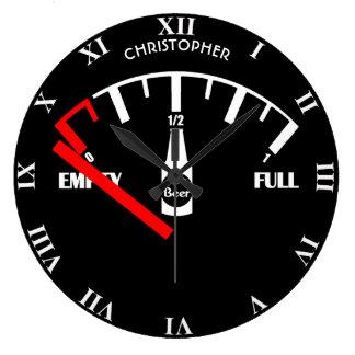 Relógio Grande Tempo engraçado da garrafa de cerveja do calibre