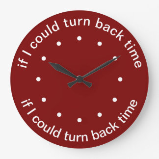 Relógio Grande Tempo engraçado temático