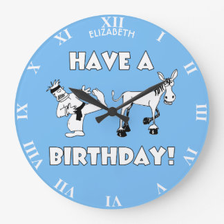 Relógio Grande Tenha um engraçado legal do aniversário de KickAss