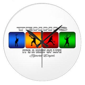 Relógio Grande Tênis legal é um modo de vida (o homem)