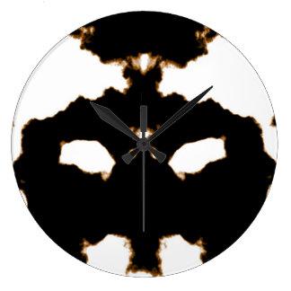 Relógio Grande Teste de Rorschach de um cartão da mancha da tinta