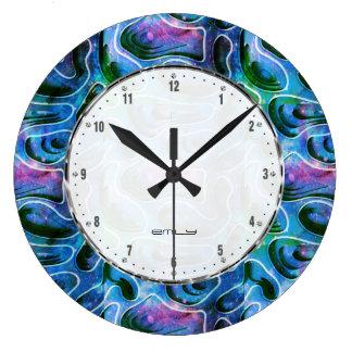 Relógio Grande Teste padrão abstrato do fundo 3D