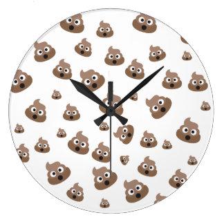 Relógio Grande Teste padrão bonito de Emoji do tombadilho