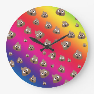 Relógio Grande Teste padrão bonito de Emoji do tombadilho do