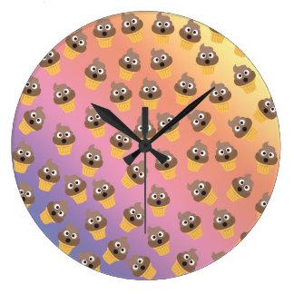 Relógio Grande Teste padrão bonito do cone do sorvete de Emoji do