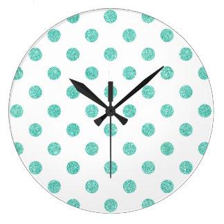 Relógio Grande Teste padrão de bolinhas elegante do brilho da