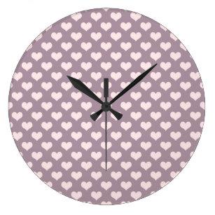 6dd70c1026b Relógio Grande teste padrão de bolinhas roxo dos corações do amor