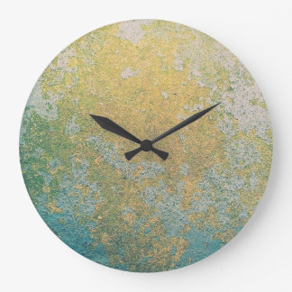 Relógio Grande Teste padrão de pedra do geode do ouro & da