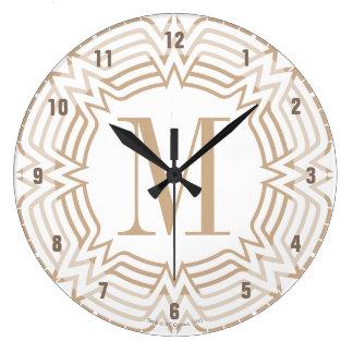 Relógio Grande Teste padrão do grego da mulher maravilha