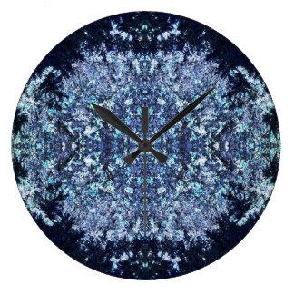 Relógio Grande Teste padrão dos azuis marinhos