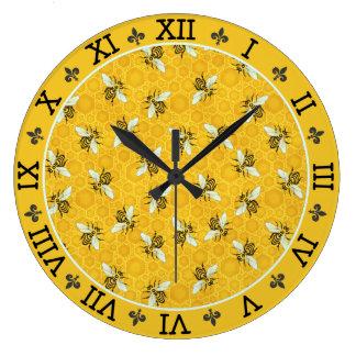 Relógio Grande Teste padrão francês do zangão da abelha do favo