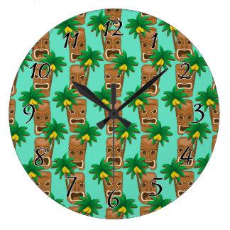 Relógio Grande Teste padrão havaiano da repetição de Tiki