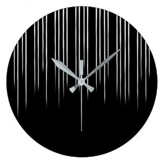 Relógio Grande Teste padrão irregular à moda preto/branco da