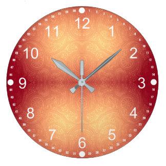 Relógio Grande Teste padrão moderno de Paisley do inclinação