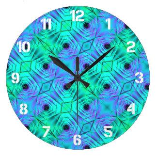 Relógio Grande Teste padrão roxo e preto verde da ilusão óptica