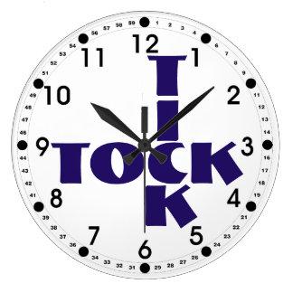 Relógio Grande Texto de Tock do tiquetaque das palavras cruzadas