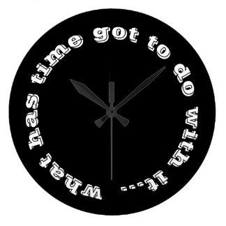 Relógio Grande Tipografia inspirada do branco do preto das