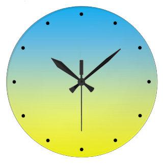 Relógio Grande Tom amarelo e do azul dois