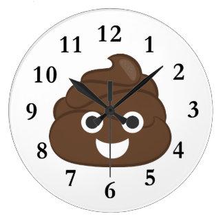 Relógio Grande Tombadilho parvo louco Emoji de Brown