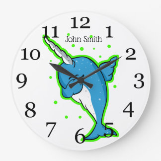Relógio Grande Toque ligeiro azul de Narwhal