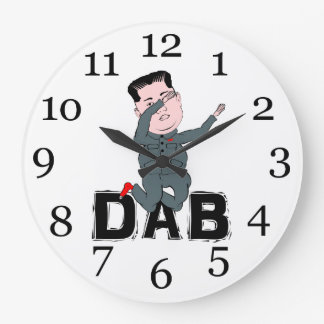 Relógio Grande Toque ligeiro do Jong-Un de Kim
