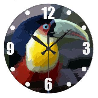 Relógio Grande Toucan, pássaro tropical