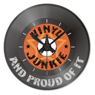 Relógio Grande Toxicómano do vinil - e orgulhoso dele com seletor