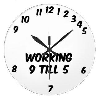 Relógio Grande Trabalhando 9 lavre o pulso de disparo de parede 5