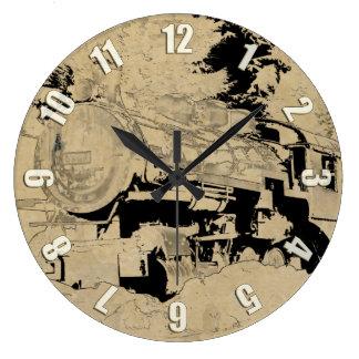Relógio Grande Trem do vapor do vintage