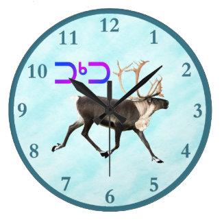 Relógio Grande Tuktu - caribu na neve