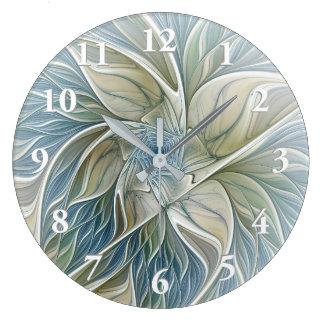 Relógio Grande Uma arte ideal floral do Fractal do abstrato do