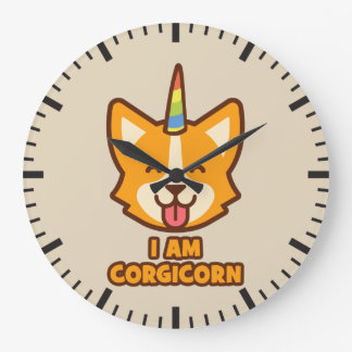 Relógio Grande Unicórnio do Corgi - CORGICORN