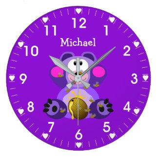 Relógio Grande Urso de mel personalizado