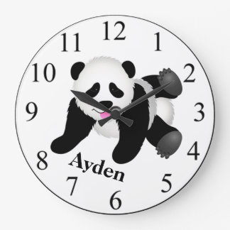 Relógio Grande Urso de panda