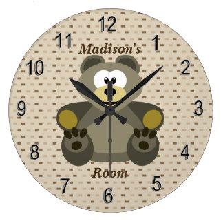 Relógio Grande Urso de ursinho bonito do pulso de disparo das