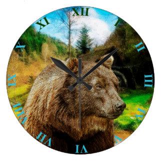 Relógio Grande Urso de urso grande e paisagem bonita das