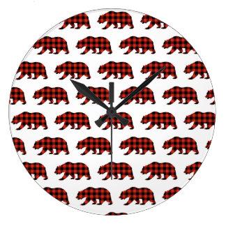 Relógio Grande Urso do Tartan