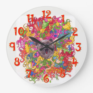 Relógio Grande Urso psicadélico