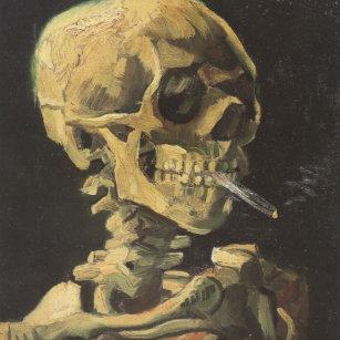 2f01ab7cb42 Relógio Grande VAN GOGH - crânio com cigarro 1885