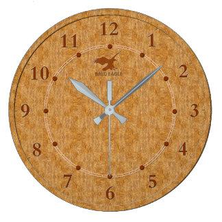 Relógio Grande Venda moderna decorativa de madeira clara do pulso