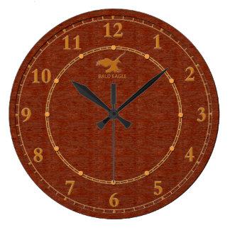 Relógio Grande Venda moderna decorativa de madeira vermelha do