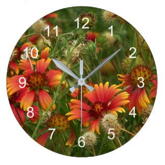 Relógio Grande verão floral