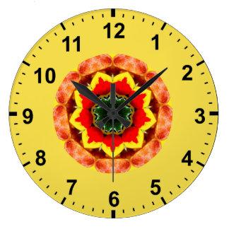 Relógio Grande ~ vermelho de florescência do Fractal da flor do ~