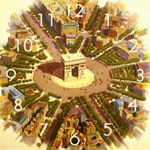 e711724a99e Relógios de Parede Arquitetura Vintage