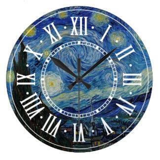 Relógio Grande Vincent van Gogh - a obra-prima da noite estrelado