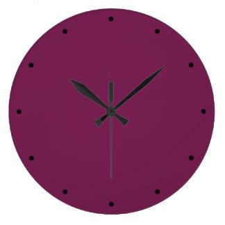 Relógio Grande Vinho liso