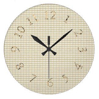Relógio Grande Vintage-Sepia--Decoração-Ouro-Diamante-Pulsos de