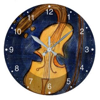 Relógio Grande Violino surrealista
