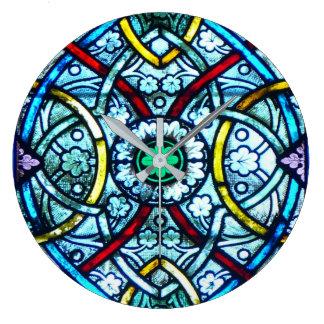 Relógio Grande Vitral elegante bonito Notre Dame Paris