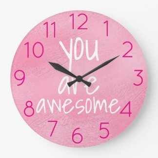 Relógio Grande Você é ROSA positivo legal impressionante das